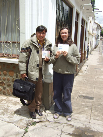 Grover and Ruth with our new visas