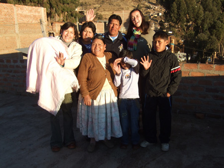 Our Peruvian family ( at 6.30 in the morning)