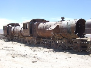 Train Cementry outside Uyuni
