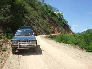 Miles and miles of dirt track through the jungle