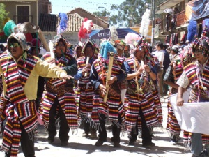 Dancing and playing traditional instruments