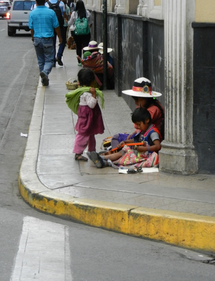 Children on the street corner.