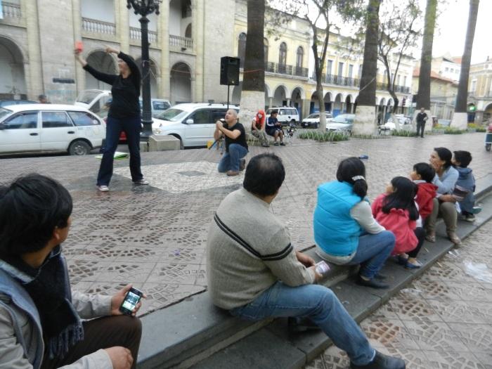 Street drama...