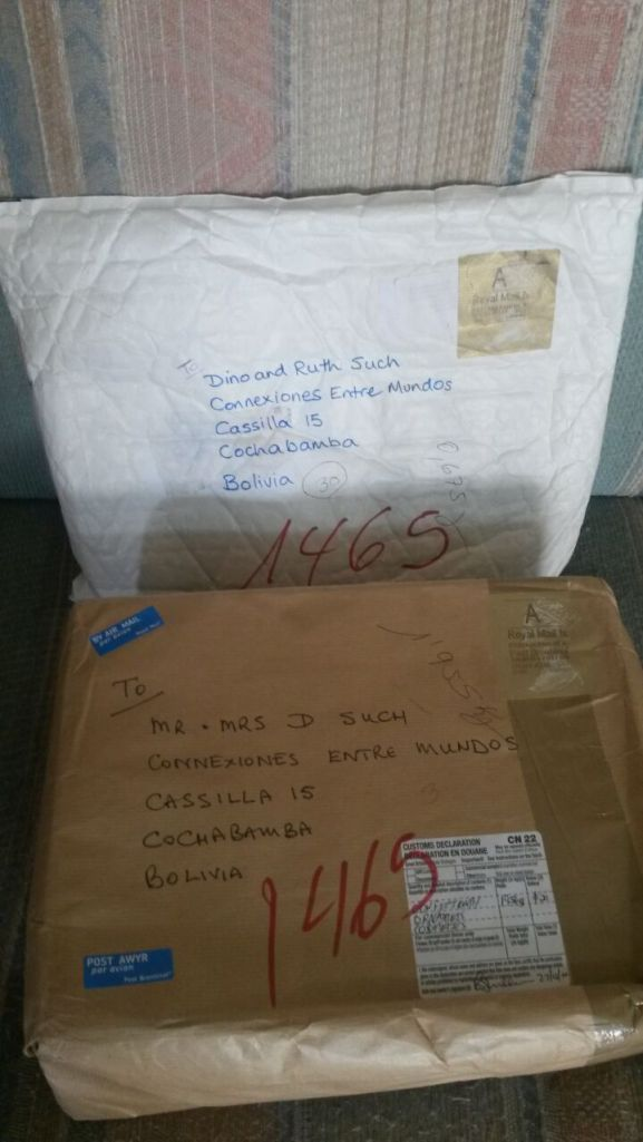 Thanks Dad & Elaine and Judith Huchinson for the packages that arrived this week:)