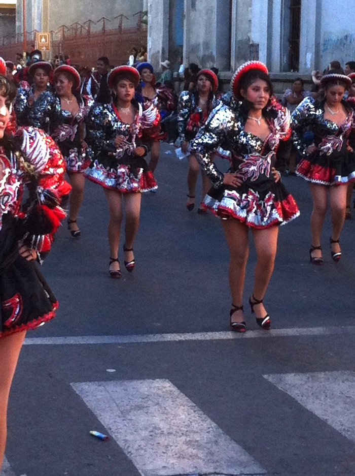 University students. 4 hours of dancing through the streets of Cochabamba.